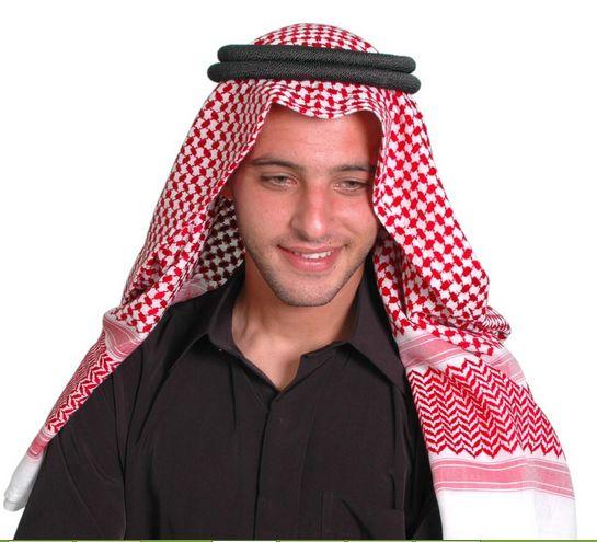 Arabische Kleidung, Kopfbedeckung Scheich Arabische Kopfbedeckung, Arabische Männer In Der Regel Verwendung Turban Einen Kreisförmigen Schwarzen Körper Obendrein Ausgestattet