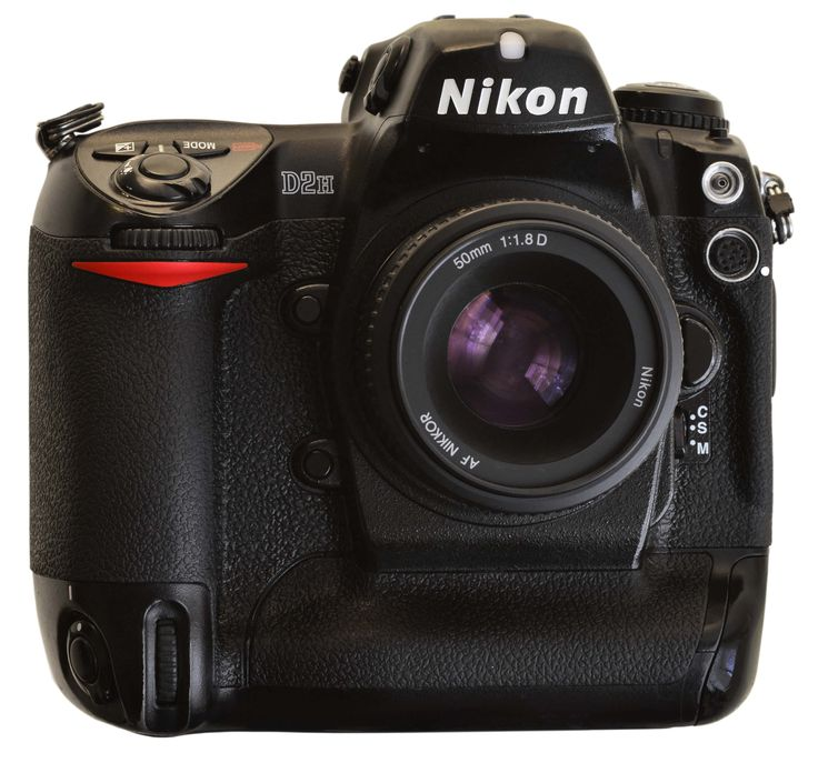 Nikon D2h - the 8-frame/second wonder of the press gallery on it's release.