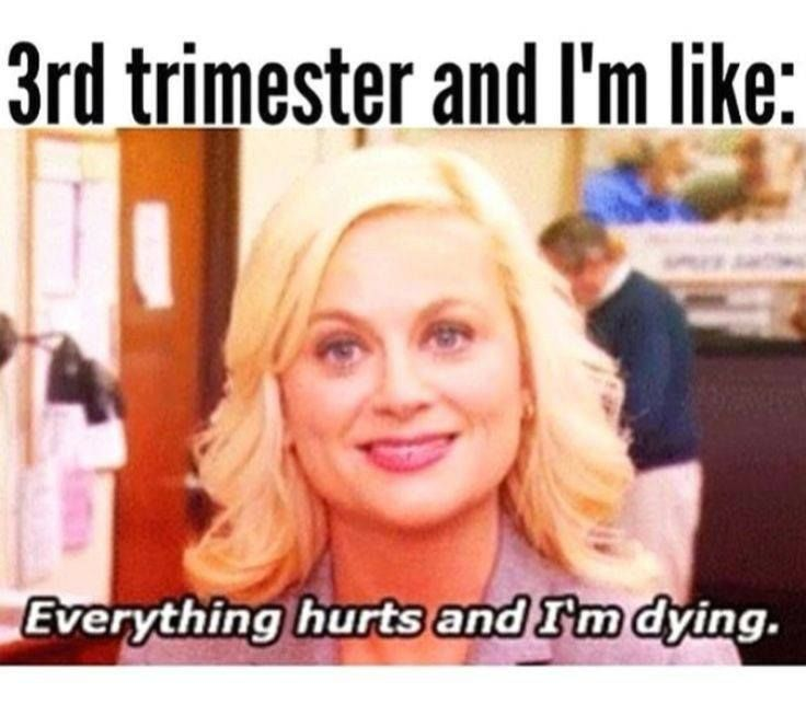 this really sums the end of third trimester up haha Pregnancy Memes | momblah.com