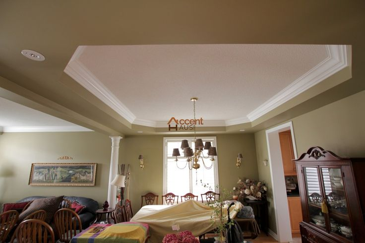 Modern Curved Waffle Ceiling in Hallroom in a House King city