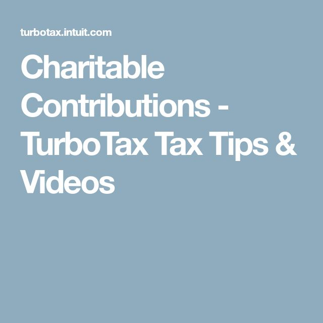 Charitable Contributions - TurboTax Tax Tips & Videos