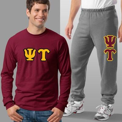 Psi Upsilon Longsleeve / Sweatpants Package - TWILL
