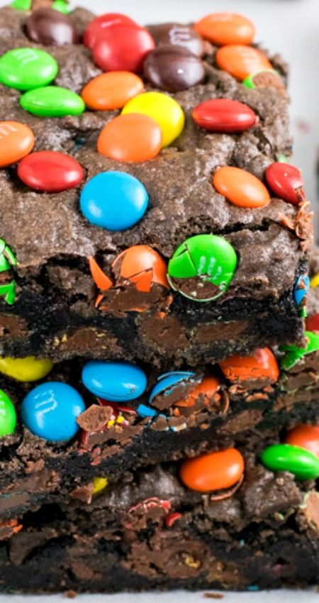 M&M's® Brownies ~ These chocolate brownies are loaded with plenty of M&M's candies inside and on top... They are a fun treat to enjoy any time of day.