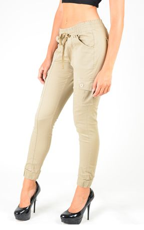 Pants-Cargo Khaki Pants with Pockets