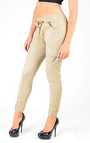 Pants-Cargo Khaki Pants with Pockets