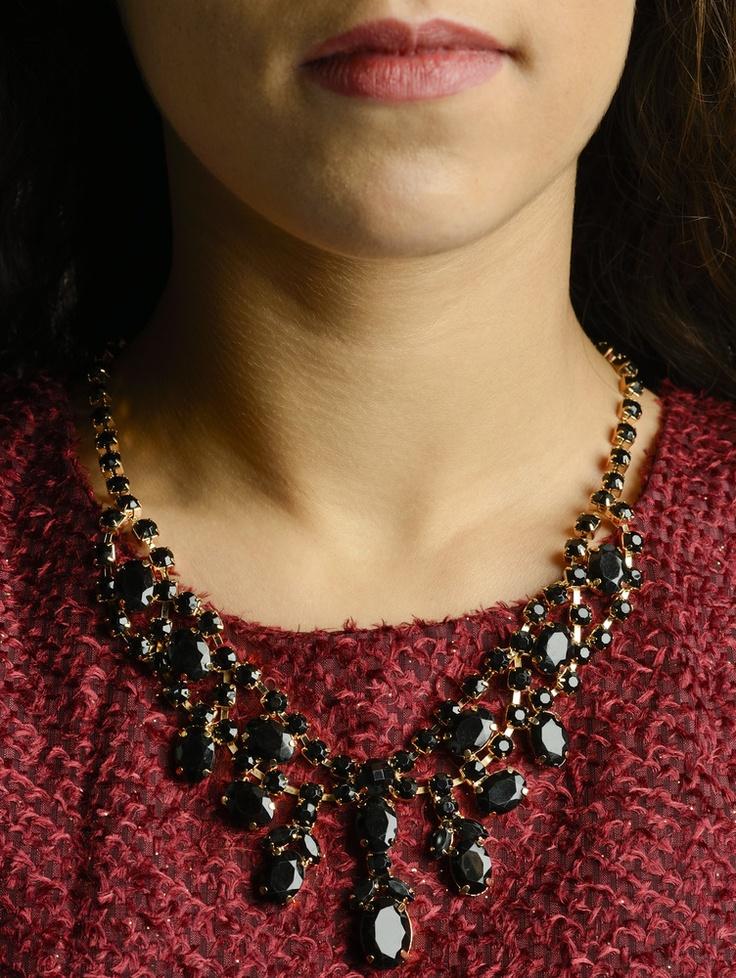 Chandelier Necklace in Black