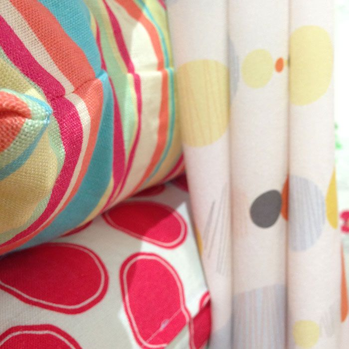 Gorgeous silk crepe de chine scarf and linen cushions.