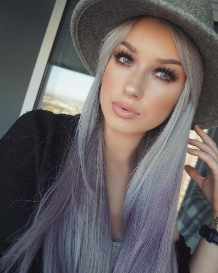"""Katie Mulcahy on Instagram: """" Contacts • @desioeyes """"mint touch"""" Hair • @arcticfoxhaircolor """"purple rain"""" diluted with shampoo (use code """"lolaliner"""" for a discount)"""""""