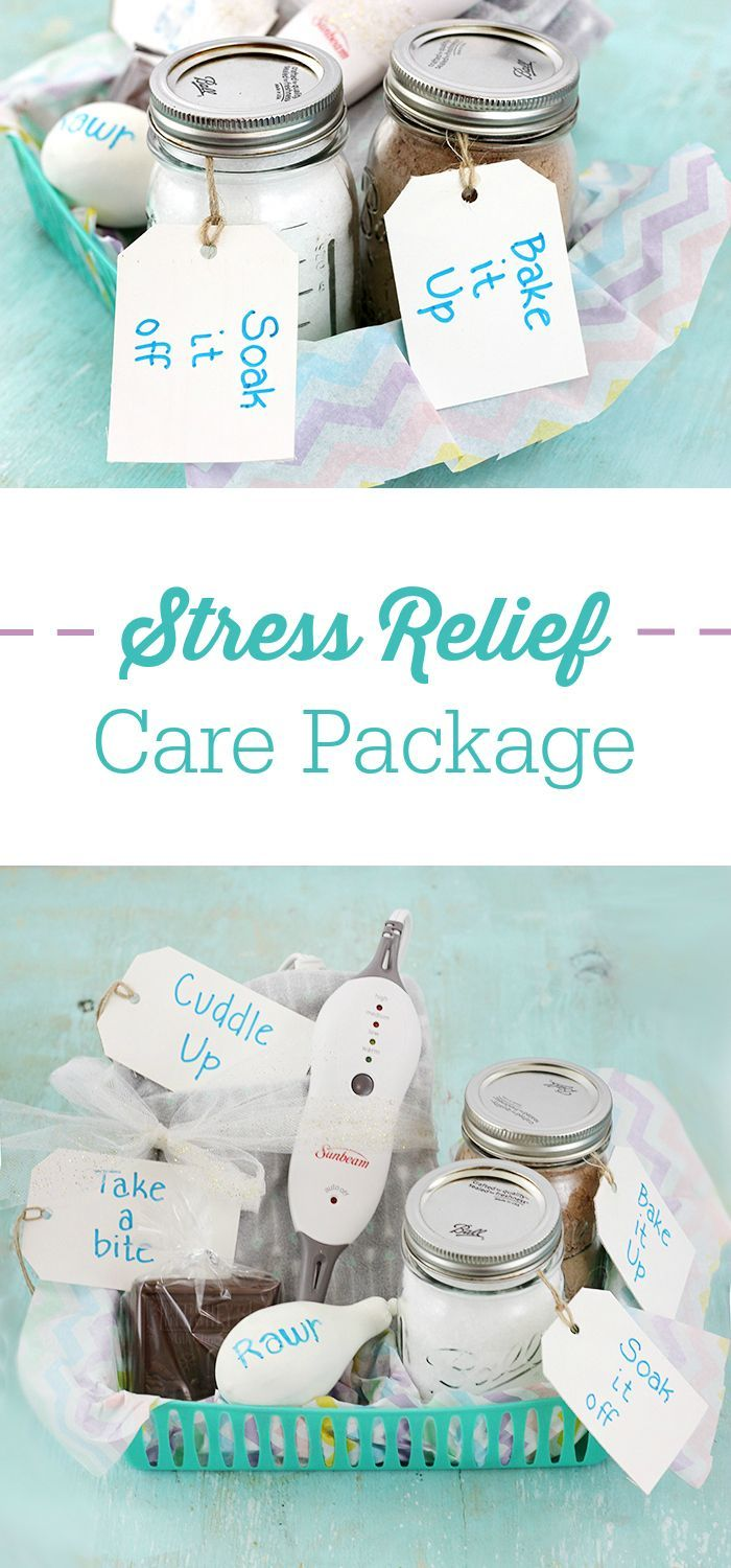 Stress Relief Care Package Ideas. Give someone a better day with these simple, cute & effective ideas. #FindYourAhh AD