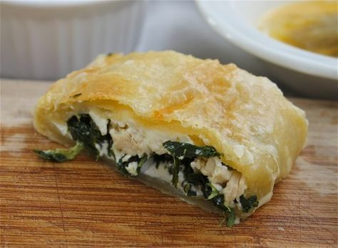 Greek Spinach Feta Chicken Pockets | TheFoodCharlatan.com
