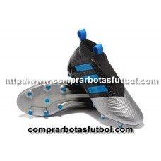 Personalizar Botas De Futbol Adidas ACE 17+ Purecontrol FG Negro Azul Plateado