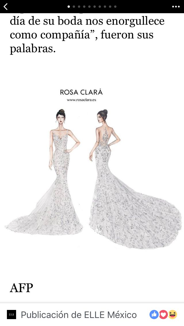 Vestido de novia de Antonella, esposa de Messi de la diseñadora Rosa Clarà