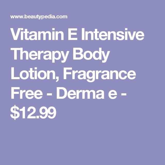 Vitamin E Intensive Therapy Body Lotion, Fragrance Free - Derma e - $12.99