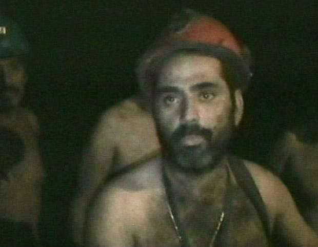 Mario Sepulveda, one of the 33 trapped miners at the San Jose gold and copper mine in Copiapo, 800 km north of Santiago