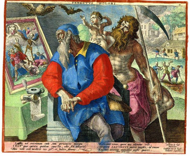 """""""Senectus Dolori"""" by Crispin de Passe after Marten de Vos"""