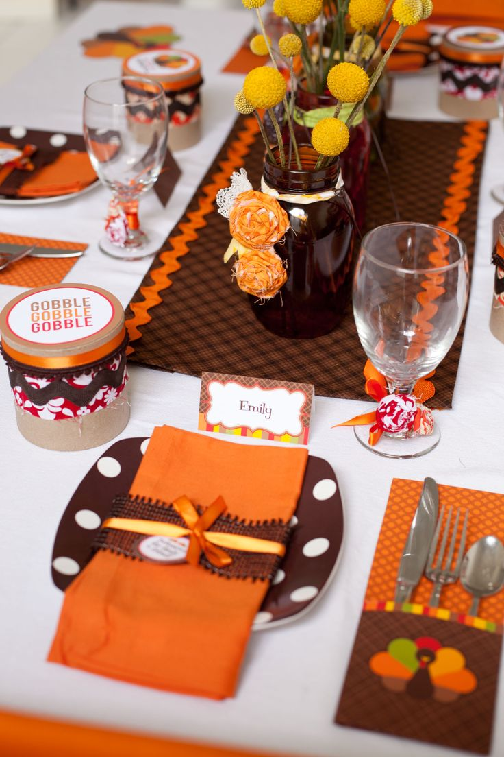 thanksgiving table setting photos | 20 Thanksgiving Place Settings and Table Settings Ideas Both Adult and ...