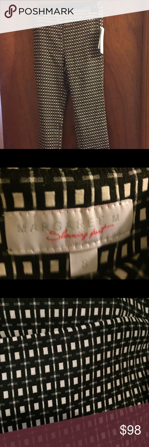 Margaret M Slimming boot pant size small Never worn, still has tags on. Black and white checked pattern. From Stitch Fix. Margaret M Pants