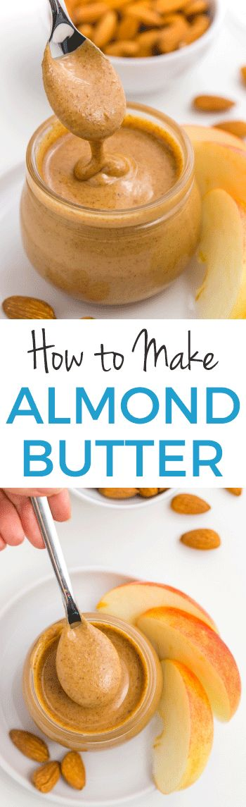 Wondering how to make almond butter? You just need almonds and a food processor! In about 10 minutes, you'll have your own homemade almond butter at a fraction of the cost of store-bought. Naturally #paleo #vegan and #glutenfree.