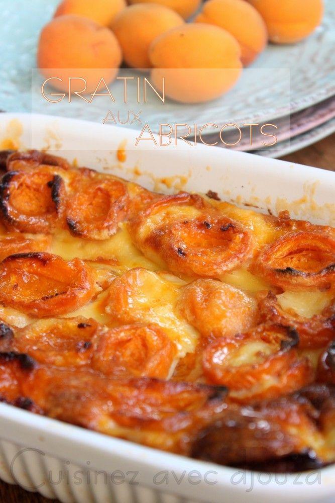 Ingrédients  – 3 œufs – 60 gr de sucre – 1 sachet de sucre vanillé – 20 cl de crème liquide – 1 cuillère à soupe de farine – une vingtaine d'abricots dénoyautés – une cuillère à soupe de confiture d'abricots – sucre vergeoise       Gratin d'abricot    Préparation  Lavez et séchez les abricots. Dénoyautez les. Beurrez votre moule. Disposez les oreillons d'abricots dans le moule et superposant 2 rangées.  Mélangez les œufs, le sucre, la vanille. Ajoutez la farine, la crème liquide.  Versez…