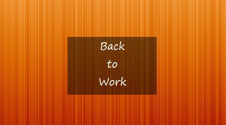 Weer aan het werk na een burnout