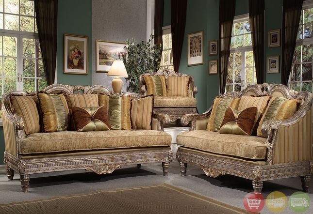 Formal luxury sofa set traditional living room furniture for Formal sofa sets