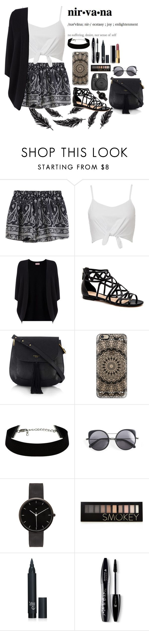 """""""Nirvana"""" by jenwolf2121 ❤ liked on Polyvore featuring Phase Eight, Fiorelli, Casetify, Wood Wood, I Love Ugly, Forever 21, Lancôme, Chanel, women's clothing and women"""