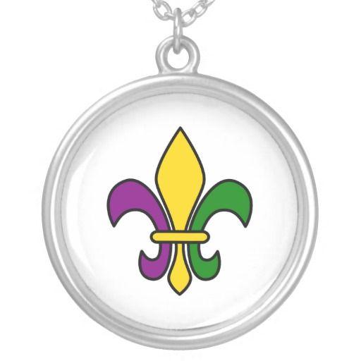 Mardi grass fleur-de-lys necklaces
