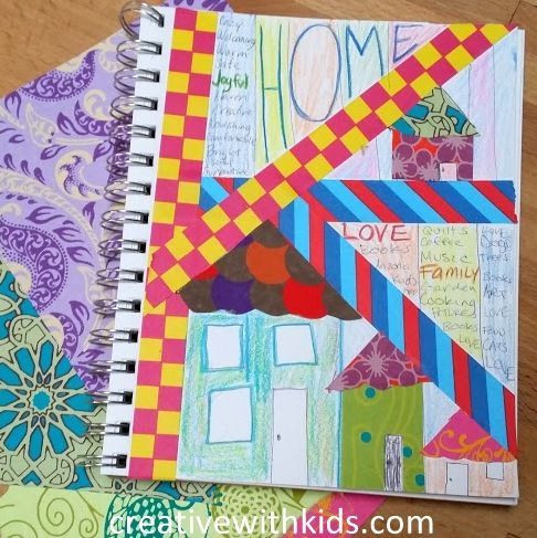 {fill your cup} HOME + Kids Art Journal Prompts