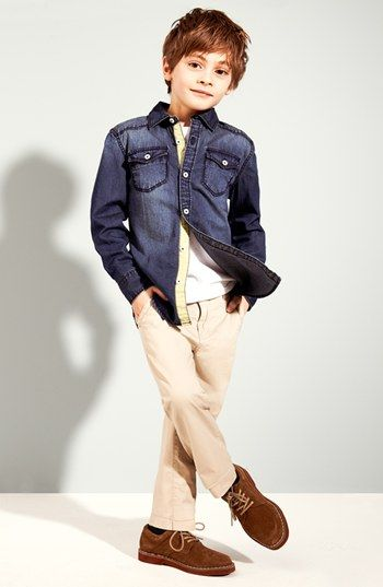 Tucker + Tate Denim Shirt, T-Shirt & Chinos (Little Boys)  available at #Nordstrom