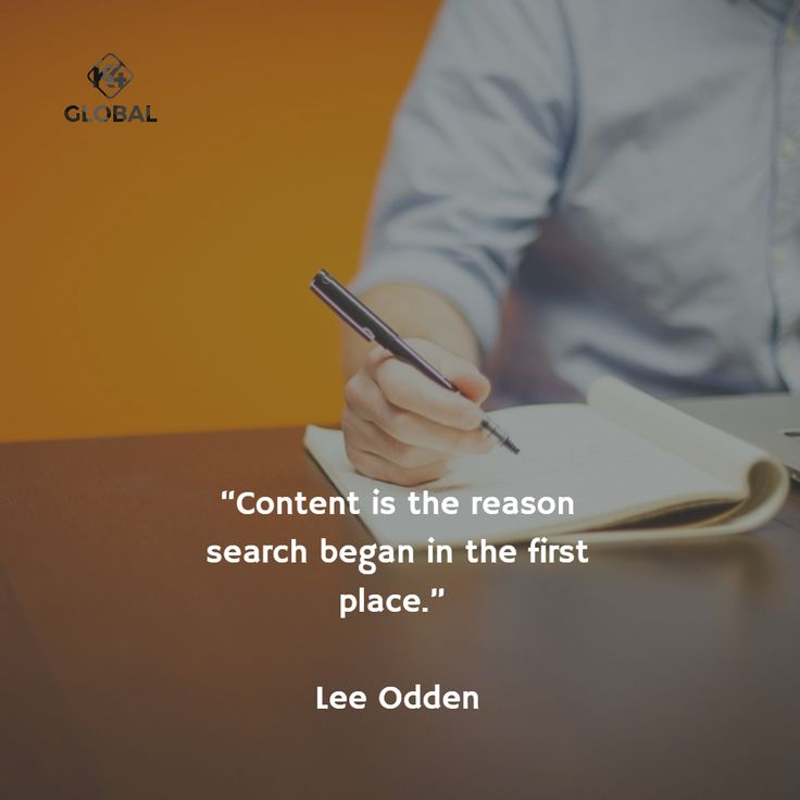 Content is the reason search began in the first place.