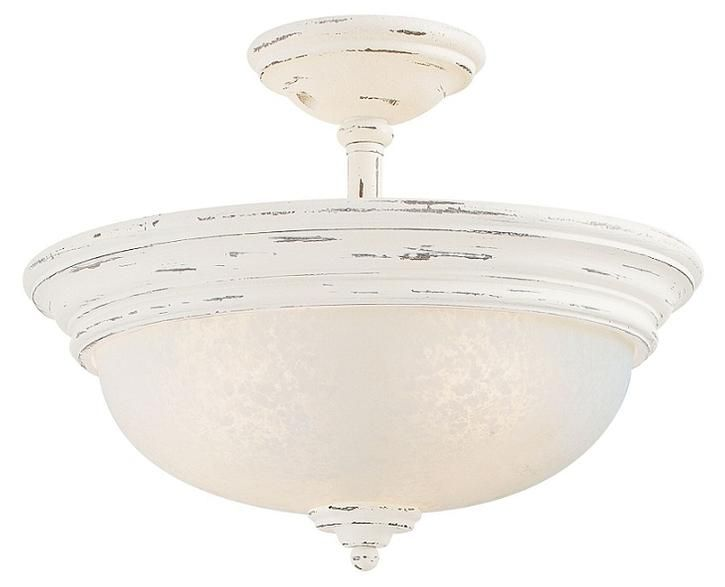 Accents Provence White Semi Flush Ceiling Light | French
