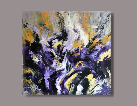 FREE SHIPPING LARGE Acrylic paintingabstractmodern by KamikaArt