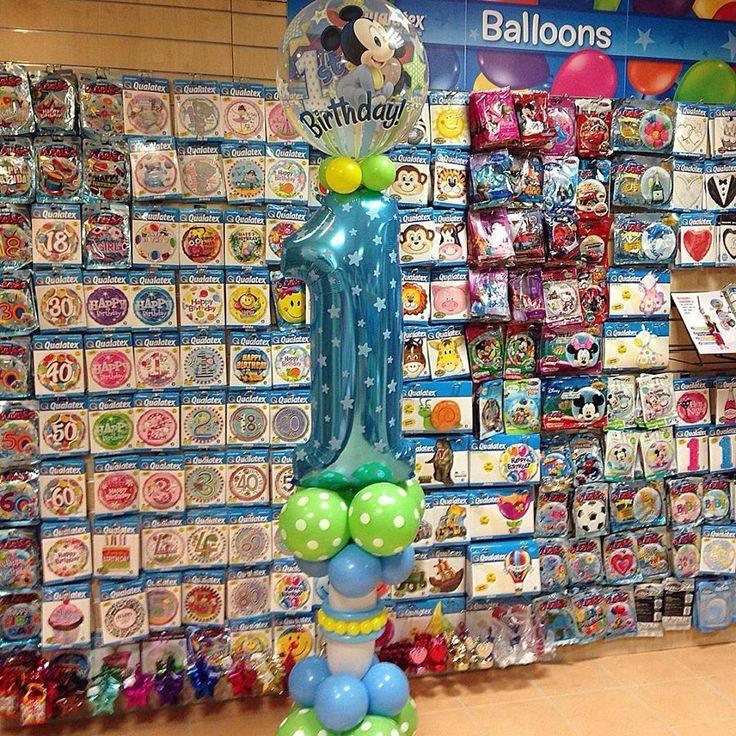 Mickey egér első szülinapi lufi dekoráció.  #mickey #mouse #balloon #qualatex #birthday #first #első #szülinap #lufi