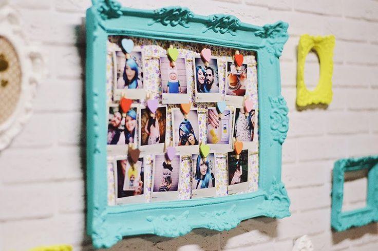 1000 ideias sobre fotos polaroid no pinterest polaroid for Como fazer um mural de recados artesanal