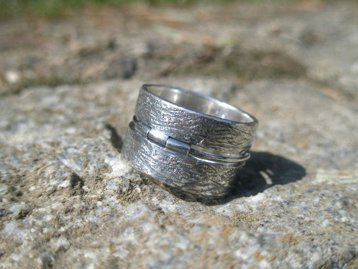 UNITED - sterling silver unisex ring, sterling silver urban ring, rustic modern design ring, sterling silver industrial ring, wide band ring by SILVERSTONEbyRenata on Etsy