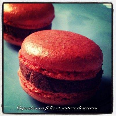 Macaron chocolat/orange