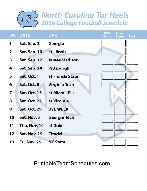 62 best 2016 NCAA TEAM SCHEDULE images on Pinterest | Team ...North Carolina Football Schedule