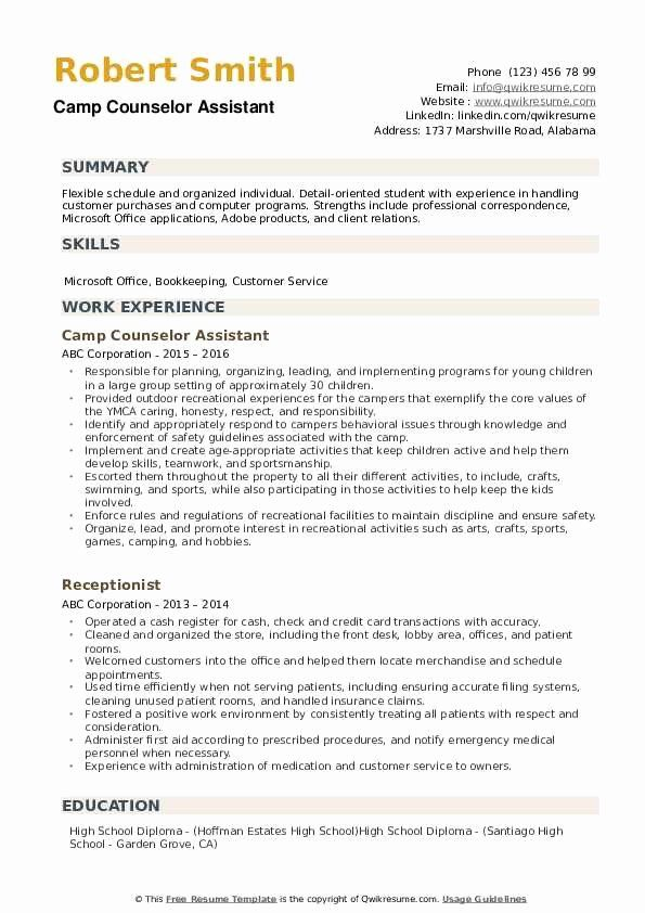 23 School Counselor Resume Examples In 2020 Resume Examples