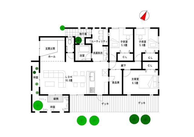30坪 間取り 平屋 - Google 検索