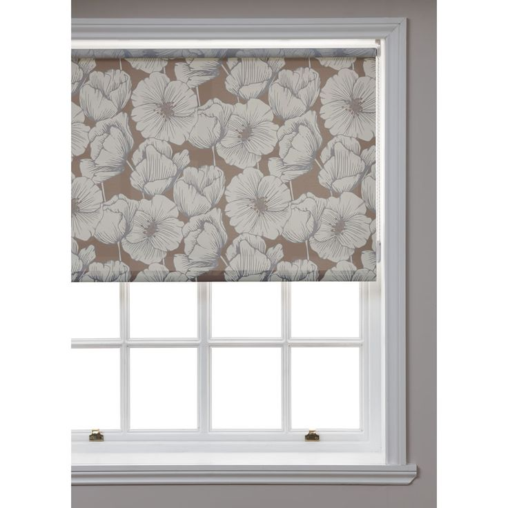 Wilko t floral nat roll blind 180x160cm