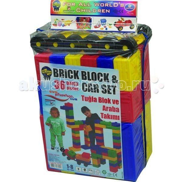 Конструктор Pilsan 36 деталей Brick  Конструктор Pilsan 36 деталей Brick Вашему малышу понравятся все игровые элементы, выполненные из яркой пластмассы, они разных цветов и яркие.   Увлекательный и развивающий конструктор представляет собой 36 ярких цветных деталей разных форм с пазами.  Данный конструктор способствует умственному развитию ребенка, развитию моторики рук, развитию воображения и пространственного мышления, социальной адаптации.