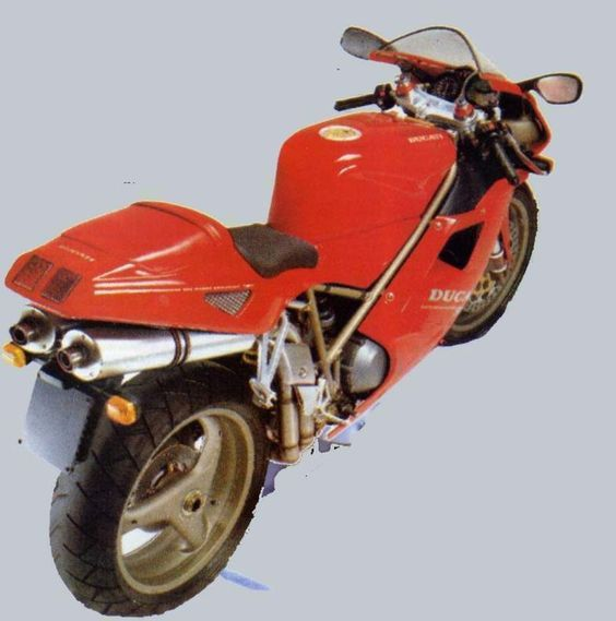 The Ducati 916 has, at its heart, a liquid-cooled, four-stroke, 916cc, 90-degree V-Twin desmodromic engine that was paired to a six-s...