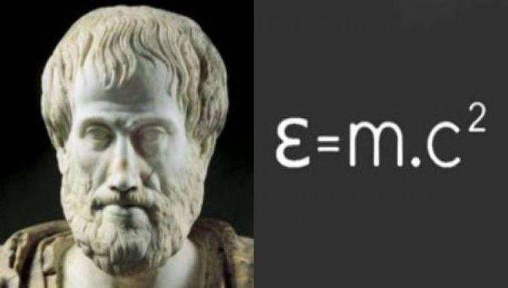Αποσπάσματα από τον Αριστοτέλη - «Της των δε ενόντων ρευστήν δύναμιν, εις κραταιάν θέσιν ισοκλίνουσα παν εν τη δομή των σμικρών μορίων πλέγμα ουσίας μέγεθος έστι τάδε: η της μάζης πολλαπλότητα ε