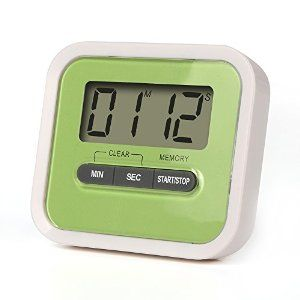 KMASHI® LCD Digit Digital Kitchen Timer Magnetic Novelty Stopwatch Clock Clocker with Clip Magnet Single AAA Battery-powered Minutes Seconds Count Up and Down for Cooking,Study,Homework,Facial Mask,Sport Exercise