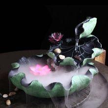 Флосси Смолы Фонтаны Воды Творческий Лотоса Ароматерапия увлажнитель воздуха крытый настольный fengshui Корабль дома Декоративные украшения(China (Mainland))