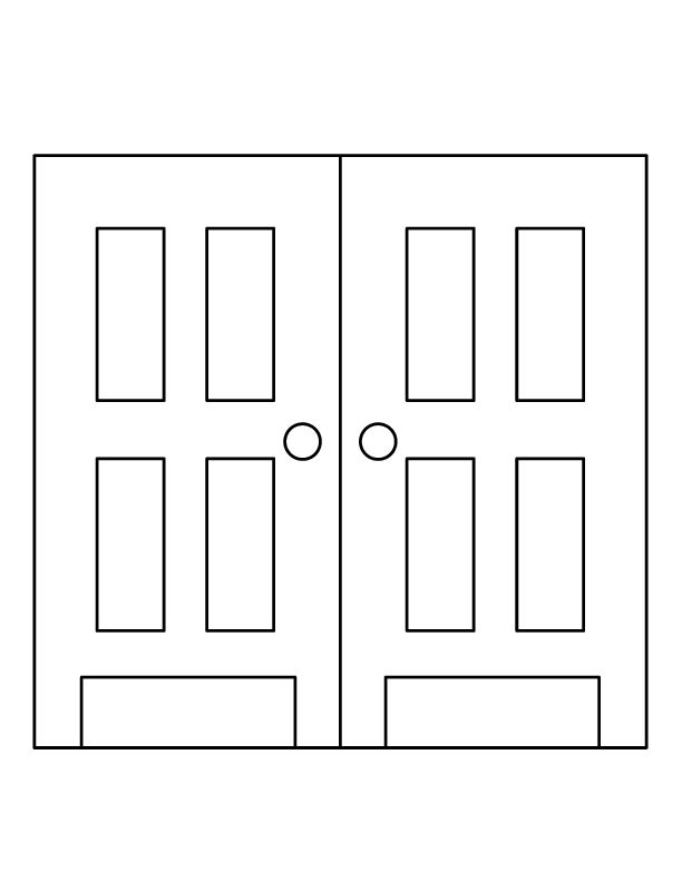 coloring pages of door - photo#3