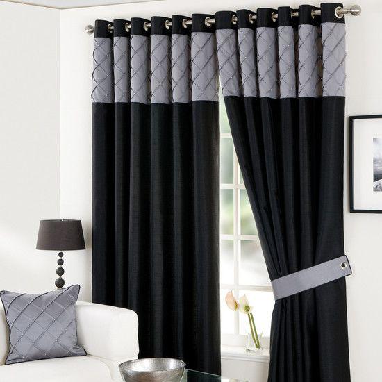 Black Parisian Eyelet Curtain Collection | Dunelm