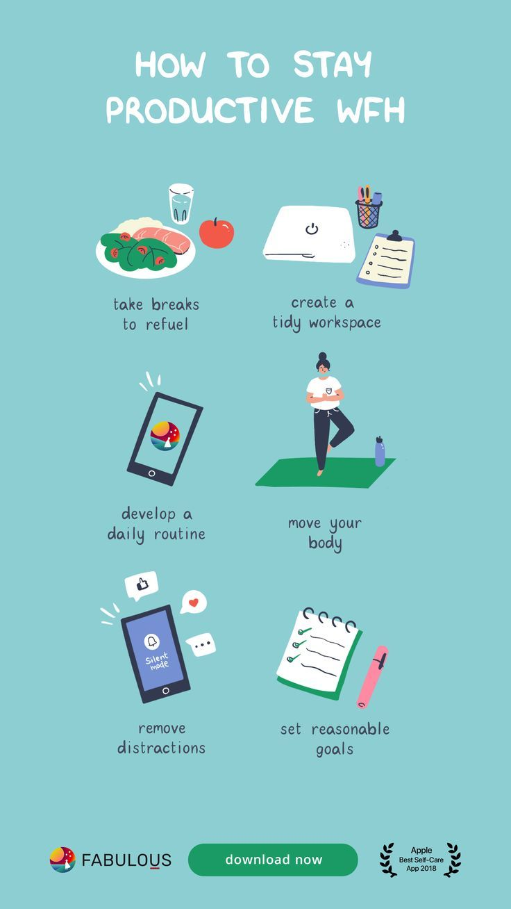 How To Stay Productive When You Wfh Self Improvement Tips How To Better Yourself Self Care Activities