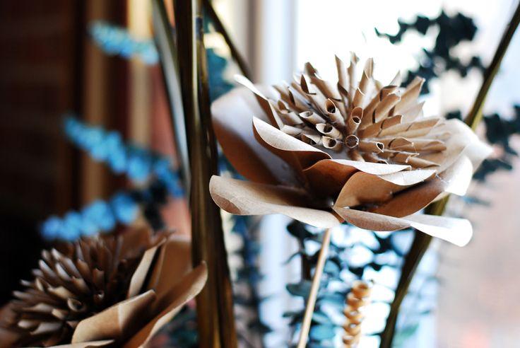 крафт-бумага цветок Л.Г.