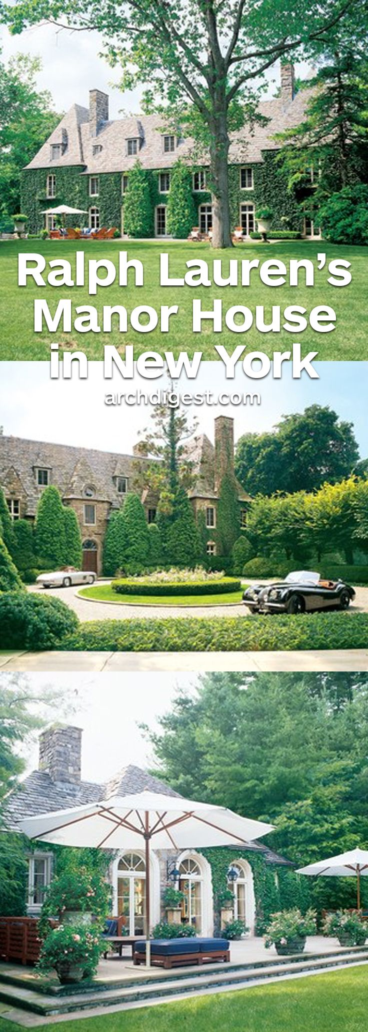 The designer shares the Bedford, New York residence with his wife, Ricky   archdigest.com